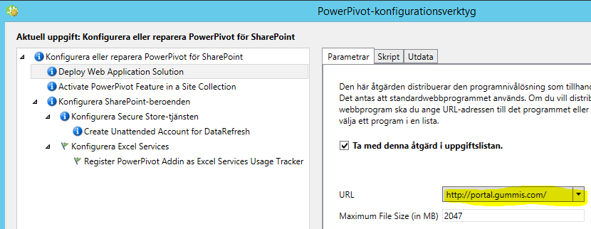 powerpivot site configuration