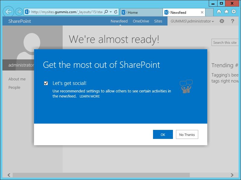 sharepoint almost ready