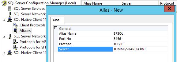 sql create alias