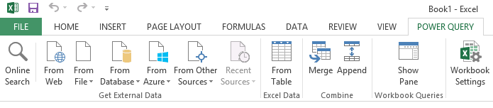 power bi import data sources power query tab