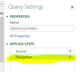 power query navigation