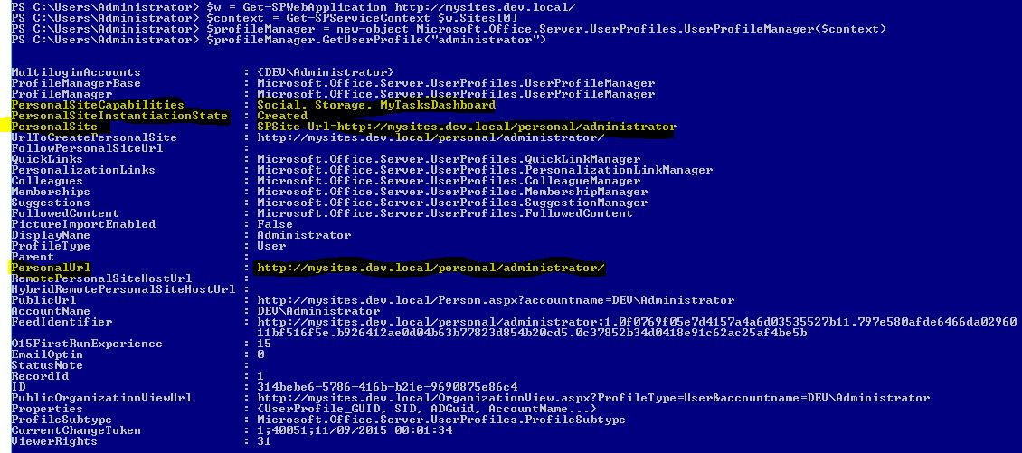 sharepoint user profile properties powershell